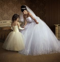 Stunning wedding dress. I Like this idea if you have a daughter