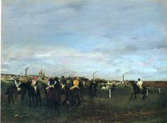 Before the Race, 1872 Edgar Degas