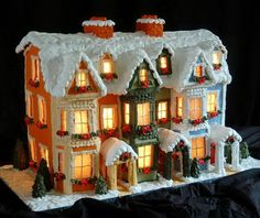 It never fails every year. My personal countdown to Christmas starts when I get the first request for the link to my Lighted Gingerbread House Instructions. The internal mini lights provide a gentle warm heat which constantly releases a fragrant, spicy scent from the gingerbread. If you have ever considered making this style of Christmas decoration, you can find my recipes and instructions in the post as well as a link to the construction slideshow.