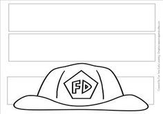 Great headband for children to color and wear for fire prevention week. Stroller Strides, Fire Prevention Week, Fireman Hat, Fire Safety, Headbands, Coloring Pages, Printables, Firefighters, Children