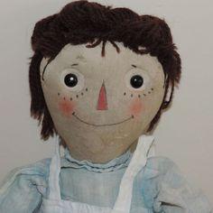 volland raggedy ann   Original Antique Raggedy Ann Doll Johnny Gruelle Volland c.1915 wood ...
