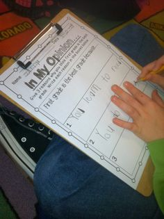 Opinion Writing in 1st grade