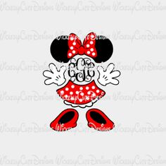 Minnie Mouse Monogram Frame SVG, DXF, EPS, PNG Digital File – Wickedly Cute Designs