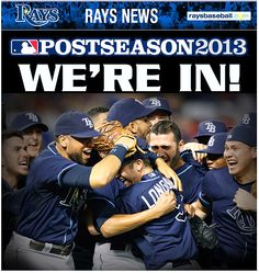 Tampa Bay Rays - 09/30/2013. GO RAYS!!!