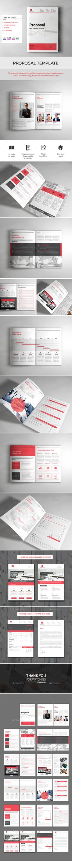 Proposal - #Proposals & Invoices Stationery Download here: https://graphicriver.net/item/proposal/17213453?ref=classicdesignp