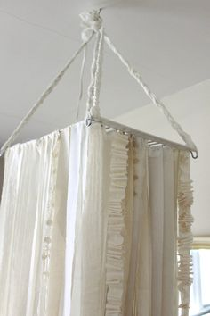 DIY:  Fabric Garland Chandelier Tutorial.