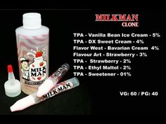CLONE Milkman aroma set   Find These yummy e-Juices and more @ http://TeagardinsVapeShop.com or look for Teagardins Vape Shop in google play store today to get all the Newest vape products right on your cell phone.
