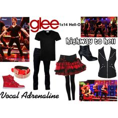 """""""Vocal Adrenaline (Glee) : Highway to Hell"""" by aure26 on Polyvore"""