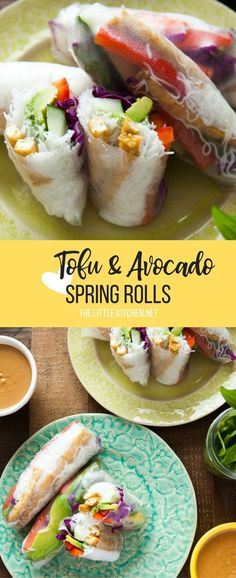 Tofu Spring Rolls from thelittlekitchen.net