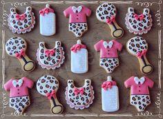 Babyshower Cookies - Fuchsia Leopard