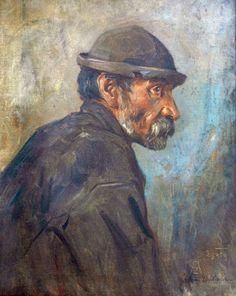Zygmunt Ajdukiewicz: Portret mężczyzny; olej, płótno, 62 x 50 cm; sygn. p. d.: Zygmunt Ajdukiewicz