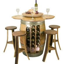 Wine Barrel Table Set Rack Base