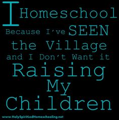 I Homeschool Because...