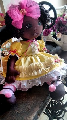 My Child doll.My sister had the crib, clothes, and play diapers (lmao) African Dolls, African American Dolls, Felt Dolls, Doll Toys, Rag Dolls, Doll Clothes Patterns, Doll Patterns, Fabric Dolls, Paper Dolls