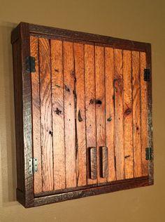 Dartboard Cabinet incl Slate Chalkboard Reclaimed by TerramaeAndCo