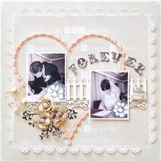 Scrapbooking Pages. Wedding layout
