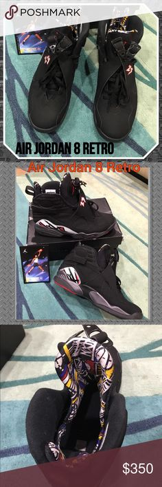"""Air Jordan 8 Retro """"playoffs"""" 305381-061 only worn once.. box included but the box isn't in great condition.. sneakers are in great condition men's Authentic always  see my ratings!! ⭐️⭐️⭐️⭐️⭐️ Air Jordan Shoes Sneakers"""