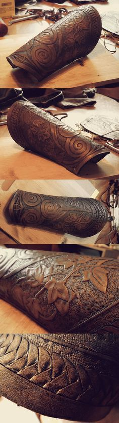 Druid Leather Bracer by Ladyeru on Deviantart.