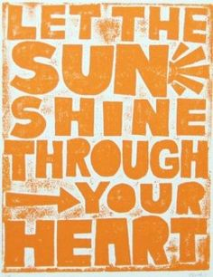 Amy~This is the other phrase I love-one of these 2 that talk about sun! :)