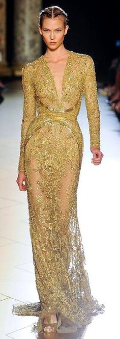 Gold - Gown - by Elie Saab