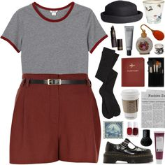 A fashion look from November 2015 by bananafrog featuring Monki, River Island, Dr. Martens, Branca, H&M, Topshop, Korres, FOSSIL, MAC Cosmetics et Essie