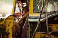 models posing  with vintage cars for photograghy | ... LeahAndMark.com | Atlanta Wedding Photographers | Atlanta Photography