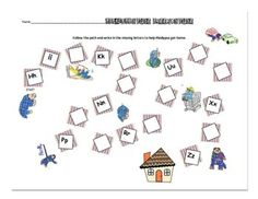 Plaidypus Lost - FREE sample page from the 30 page kit.  Students write in the missing letters to find his way home....