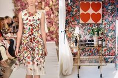 [CasaGiardino]  ♡  We couldn't round up the best of New York Fashion Week without an Oscar de la Renta frock making the list, now could we? Once again Mr. de la Renta dazzled us all with a parade of feminine and flirty dresses, shorts, and gowns. Floral dresses for spring aren't exactly groundbreaking, but it is a reminder that flowers will never go out of style—and neither will bar carts and bold floral wallpaper.