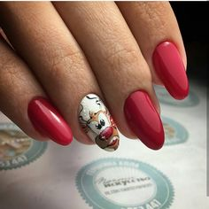nice 35 Striking Ideas for Christmas Nails Design - All Glamour for Merry Perfection Check more at http://newaylook.com/best-ideas-for-christmas-nails/