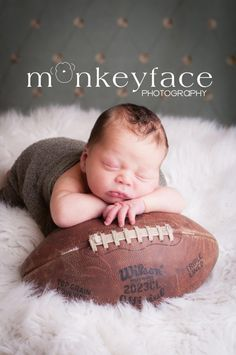 Newborn Photography Props. Football is a must have. ❤Must do it with the helmet & football that we have signed!! | best stuff
