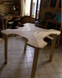 Collapsable 4 sit bench, Institut des Arts de la Bijouterie, Aix en Provence (FR)