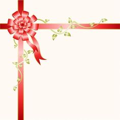 Gift Box - Bow, Abstract, Background, Illustration, White, Red
