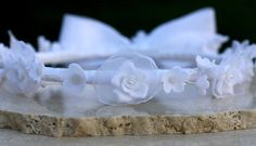 First Communion Roses headpiece wreath by HitomiDesigns on Etsy, $45.00