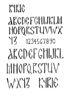 """Alphabet for Icons.  From Peter Pearson's book """"A Brush with God: An Icon Workbook"""" 2005"""