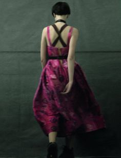 Georgina Stojiljkovic by Sarah Moon in Colorful Realm