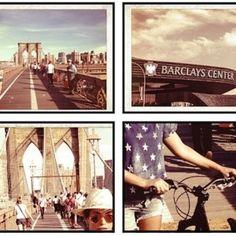 Bey pedalando até o show no Brooklyn!