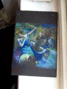Slate whispers  In the sprit of Degas  Still drying