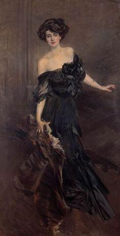 black gown painting Nemindoff