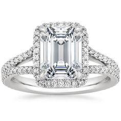 18K White Gold Fortuna Diamond Ring from Brilliant Earth