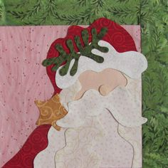 Peck's Pieces: Santa in the Pines Wall Hanging Part 1