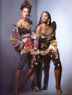 Naomi Campbell and Christy Turlington