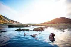 """Iceland morning after a night of rain. """"We spent an entire hour hanging out in a natural hot spring to start the day's adventure."""""""