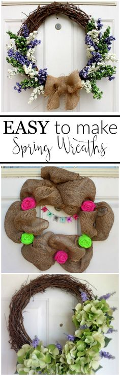 18 Easy to Make Spring Wreaths
