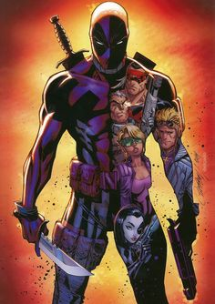 Deadpool & X-Force by J. Scott Campbell