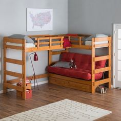 Woodcrest Heartland Futon Bunk Bed With Extra Loft There Are Lots Of Diffe Attic Kind Beds Available In The Market