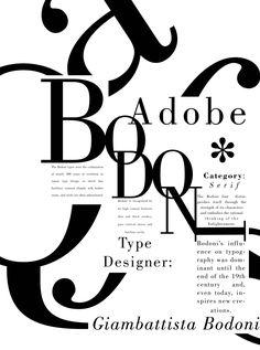 Lianna £ngland Art - Lianna £ngland Art Adobe Bodoni type specimen poster by Lianna England Poster Fonts, Typography Poster Design, Creative Typography, Type Posters, Typographic Poster, Typographic Design, Typography Inspiration, Graphic Design Posters, Graphic Design Illustration