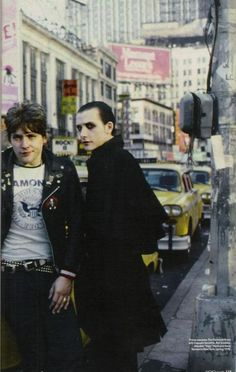 Algy Ward & Dave Vanian - The Damned. I was quite a fan of The Damned as I reached adolescence in the 80s.