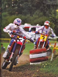 Ron Lechien Honda RC 125 factory / David Thorpe Honda RC 500 factory 1985 Motocross des Nations