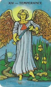 Key Words for the Temperance Tarot Card Meanings        Merging      Balance      Healing      Blending      Connection      Chemistry      Fluidity      Moderation