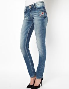 Enlarge Pepe Jeans London Embroidered Boyfriend Jeans